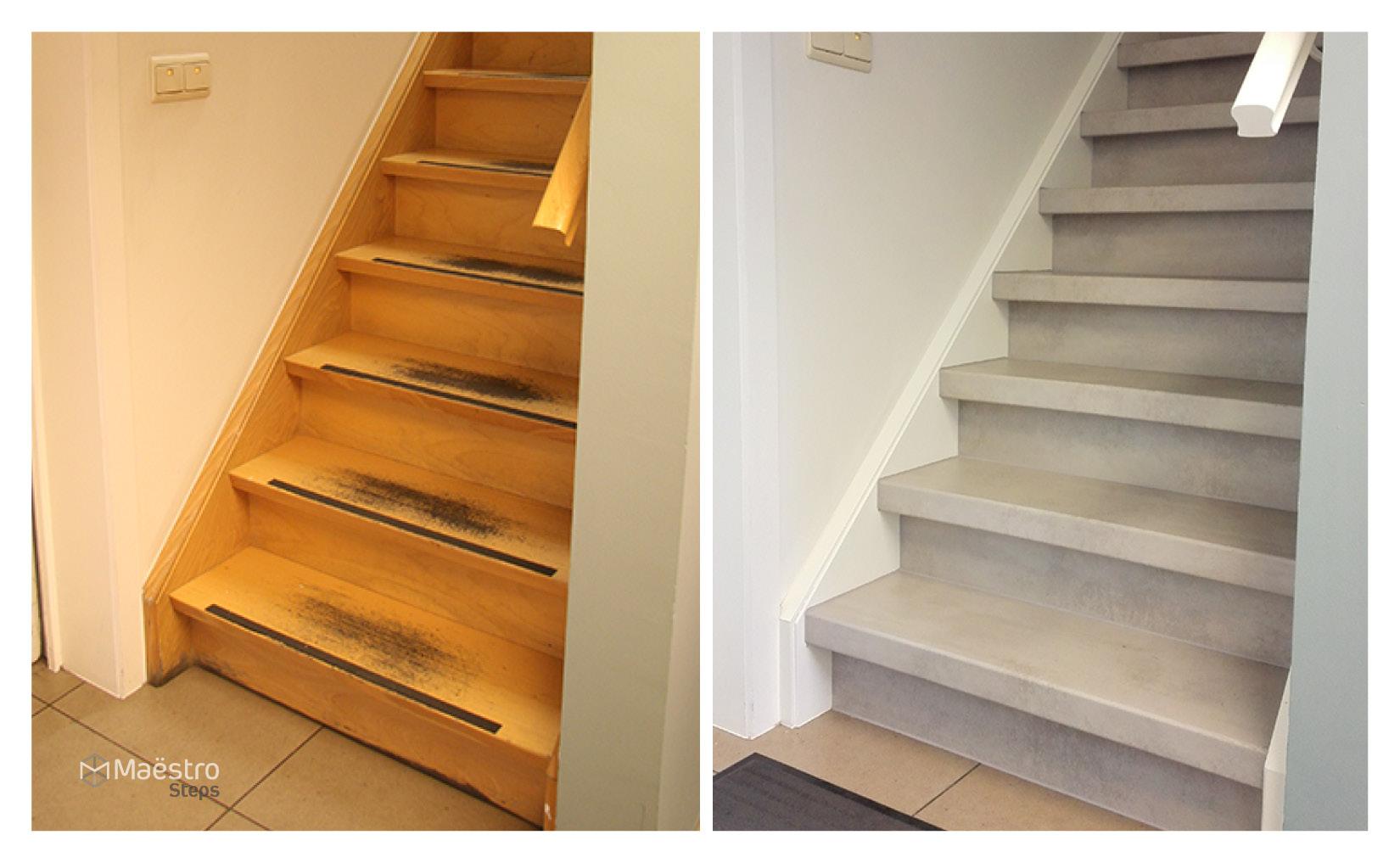 Van afgeleefd hout naar modern beton maestro steps